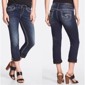 Silver Suki Capri Jeans | Size 29
